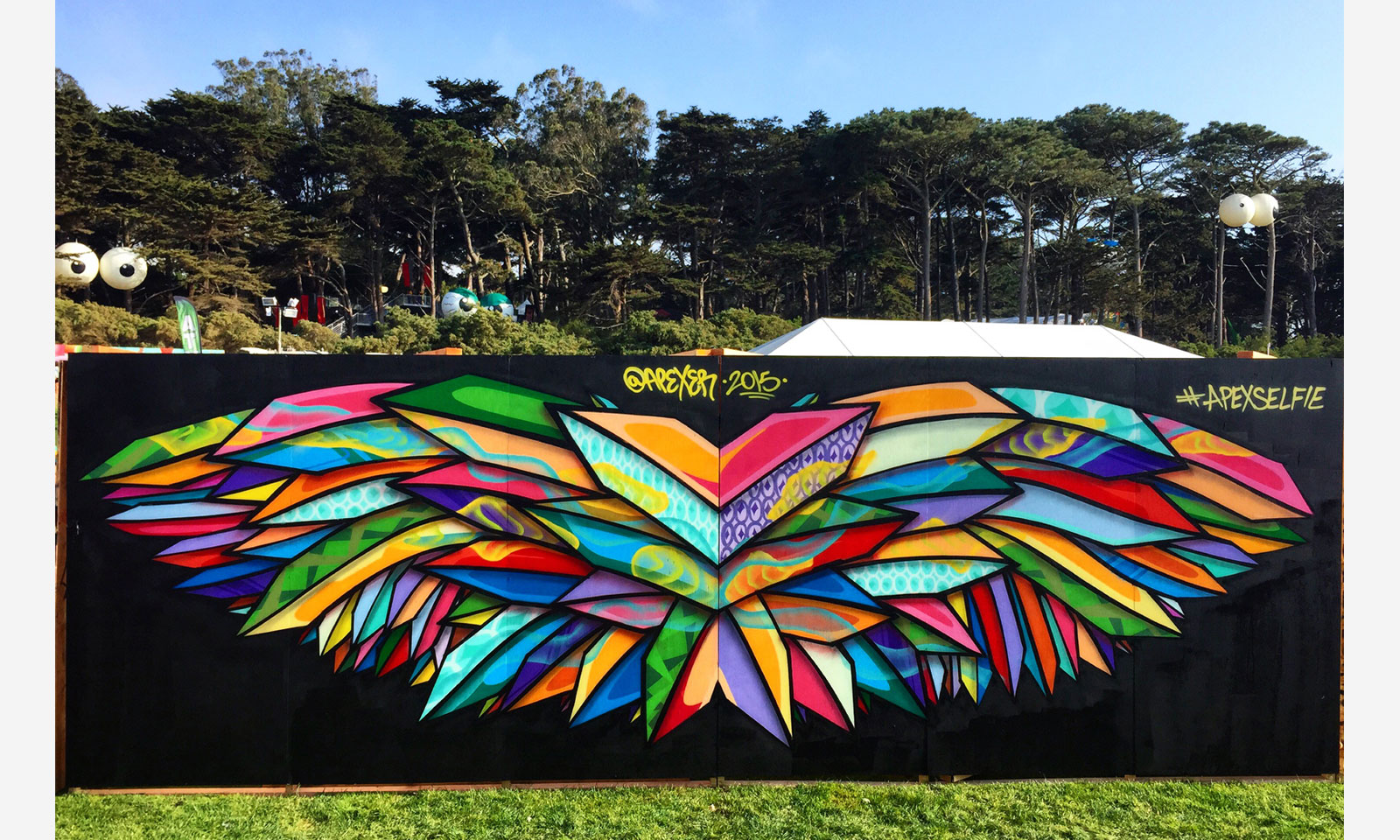 #ApexSelfie Mural at Outsidelands Music Festival in San Francisco, CA created by Apexer