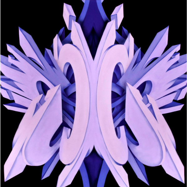 Purple mirror abstract Image created by Apexer on Canvas, White Walls Gallery, San Francisco