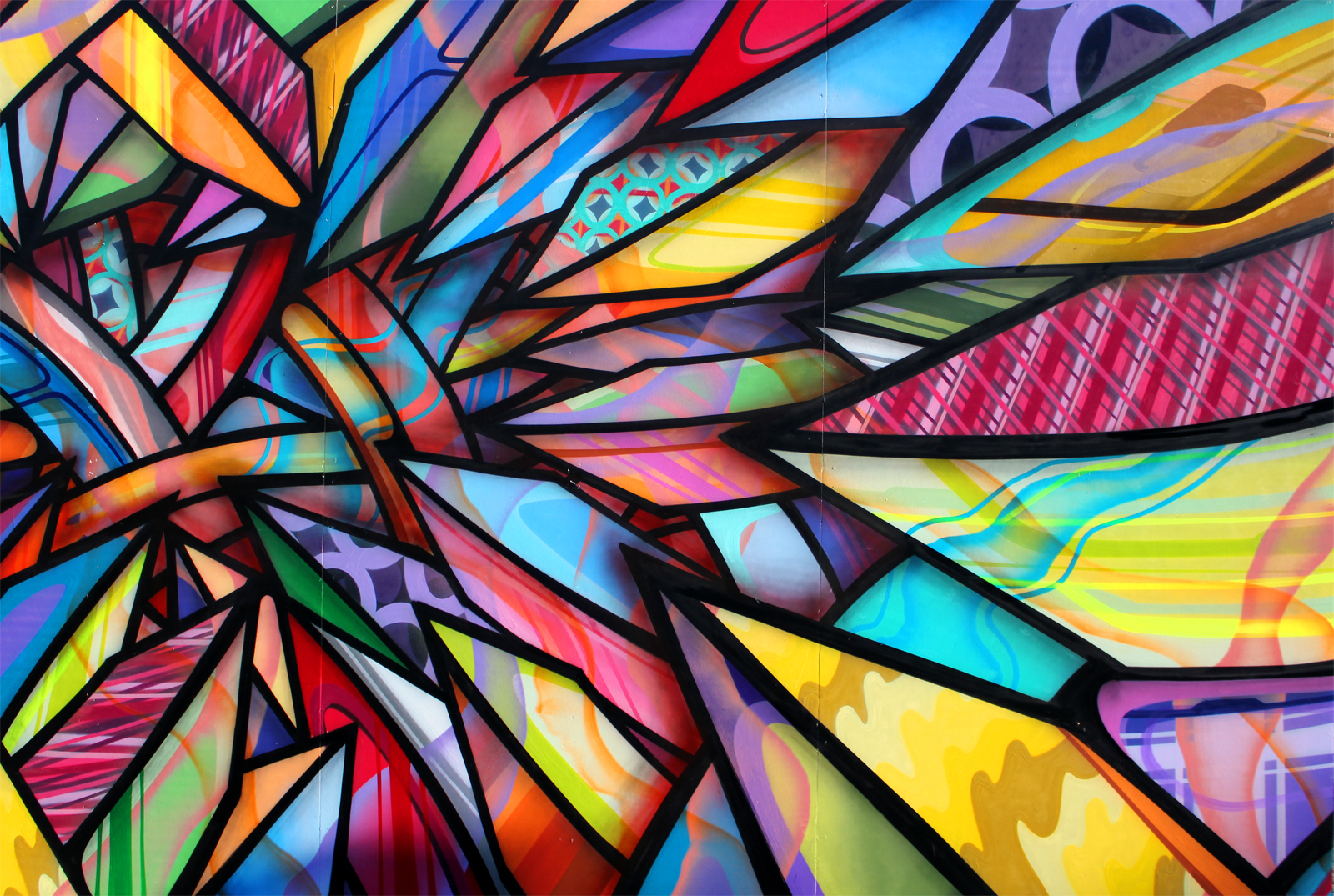 Close up of the mural Apexer and Adobe created for the #CreateNow campaign