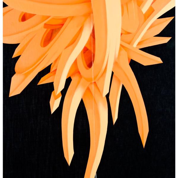 Orange Geometric shapes on denim canvas created by Apexer